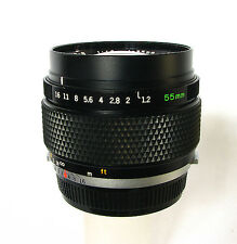 Olympus G. Zuiko Auto-S 55mm 1:1.2 Super Fast Lens