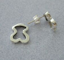 Taxco Mexico 925 Silver Inspired Design SMALL Outline  BEAR  Cute Post Earrings