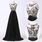 Women Long Lace Chiffon Cocktail Evening Formal Party Prom Gown Bridesmaid Dress