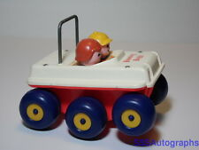 VINTAGE 1973 FISHER PRICE #122 BOUNCING BUGGY PULL TOY NO STRING 6 WHEELS TIRES