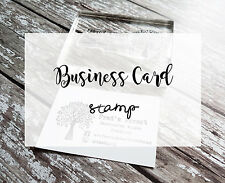 BUSINESS CARD STAMP, BUSINESS CARD PRINTING, PERSONAL LOGO SYMBOLS TEXTS