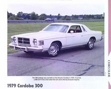1979 Chrysler Cordoba 300 Info/Specs/photo prices production numbers 11x8