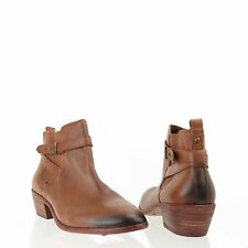 Women's Sam Edelman Pacific Shoes Brown Leather Ankle Booties Size 8.5 W NEW!