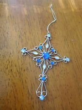 Christmas Tree Ornament or Package Decoration--Blue & Silver