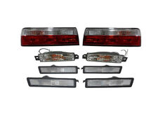 89-91 BMW E30 3 Series Red/Clear Tail + 4 PCS Bumper Side Marker + Signal Lights