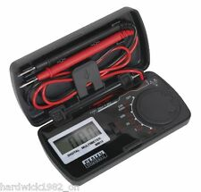 Sealey strumenti dimensioni TASCABILE DIGITALE ACUSTICO MULTIMETER TESTER MULTI METER + Custodia
