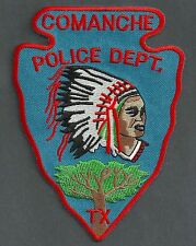 COMANCHE TEXAS POLICE PATCH INDIAN