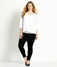 EILEEN FISHER SKIRTED ANKLE LEGGINGS JERSEY STRETCH BLACK XL NEW