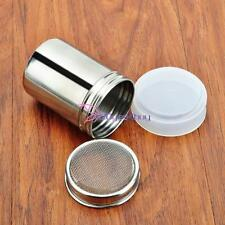 Stainless Steel Shaker Icing Sugar Coffee Flour Sifte Chocolate Dredge Sprinkler