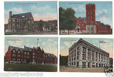 ONEONTA NY 4 Postcards State Armory, Hospital & Nurse's Home, Oneonta Hotel etc