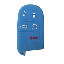 Sky Blue Silicone Key Fob Case Cover Fob Keyless Remote fit for JEEP DODGE