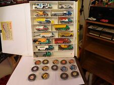 Vintage Hot Wheels Red Lines Heavy Weights Complete set w/buttons & great case