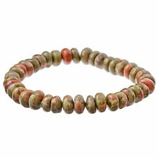 Brown & Green Natural Stone Bead Bracelet for Men by Urban Male Jewellery