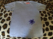 NEW Supreme Splat Tee gray & purple Size M Medium F/W 15 NWT