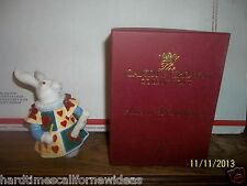 DEPT 56 CANDLE CROWN ALICE IN WONDERLAND WHITE RABBIT FIGURINE SNUFFER IN BOX