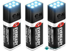 3-Pack of 9 Volt LED Mini Flashlights: Free Shipping USPS First Class