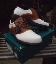 MEN'S ECCO GOLF SHOES CLASSIC SADDLE WITH CROC SIZE 48 EU / 14 USA NEW IN BOX SO