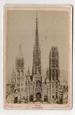 PHOTO ANCIENNE CARTE CABINET - ROUEN La Cathédrale - Avant 1900