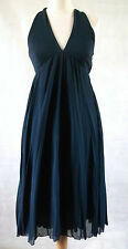 MOSCHINO bon marché & chic dos nu twist retour french navy blue goddess dress 10