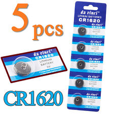 5pcs CR1620 3V Volt Button Cell Coin Battery for Watch Remote Calculator Toy