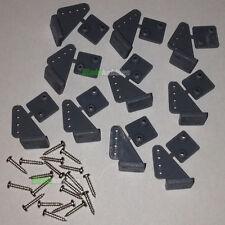10 X Pin control Horns & Tornillos l20xw15xh11 Pushrod Rc Avión Ala servo del elevador