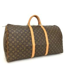 100% Authentic Louis Vuitton Monogram Keepall 60 Boston Travel Hand Bag /gBEF