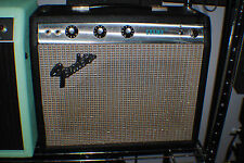 Fender Champ Guitar Amp, Silverface, SF, mid-70s, Weber Al Nico Speaker