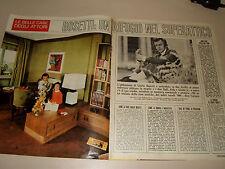 GIULIO BOSETTI attore clipping articolo foto photo 1971 casa superattico