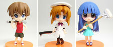 Higurashi no Naku Koro ni When They Cry Keiichi Rena Rika Mini Figure set New