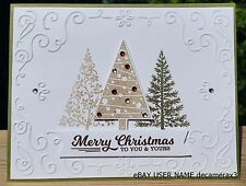 CHRISTMAS HANDMADE CARD KIT, SET OF 4 STAMPIN' UP FESTIVAL OF TREES