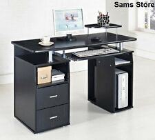 Computer Desk Office PC Table Laptop Black Work Station Modern Home Furniture