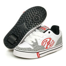 Heelys Motion Plus White/Grey/Elephant Print - UK Size 3 NEW!