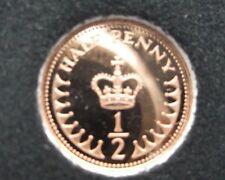 1974 Half pence Proof Coin. Low Mintage of proofs. Top example