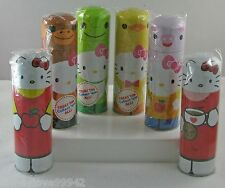 Hello Kitty Candy Tins Party Favor Lot 6 Apple, Biscuit, Pig, Monkey, Frog, Duck