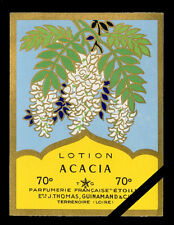 Vintage French Perfume Soap Label: Acacia Antique Cologne Parfumerie Etoile