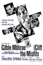CLARK GABLE MARILYN MONROE '61 the misfits movie poster 24X36 SEXY western