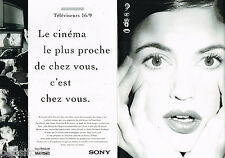 PUBLICITE ADVERTISING 065  1995  SONY téléviseur 16/9 SUPER TRINITRON WIDE ( 2p)