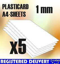 ABS Plasticard A4 - 1mm COMBOx5 sheets - Styrene Plastic Sheets - Plastikard