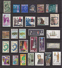 Malta 29 Assorted stamps. Good space fillers. Clean & Tidy. Good Used.