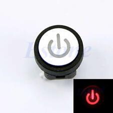 Computer Case  LED Light Power Symbol Push Button Momentary Latching Switch Red