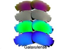 Galaxy Replacement Lenses For Oakley Racing Jacket Blue&Green&Titanium&Purple