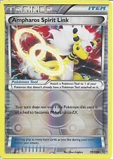 POKEMON CARD XY ANCIENT ORIGINS - AMPHAROS SPIRIT LINK 70/98 REV HOLO