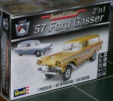 Revell Monogram 1957 Ford Gasser Drag Station Wagon 2 in 1 Model Kit 1/25