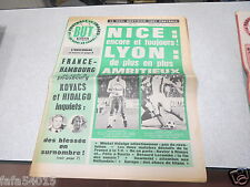 LE FOOTBALL EN IMAGES BUT N° 614 NICE LYON 1975 *