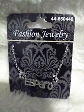 "Fashion Jewelry Necklace With the Word ""Espero"""