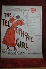 1898 SHEET MUSIC COMPLETE FOR SONG IN PLAY, THE TELEPHONE GIRL, WALL TELEPHONE