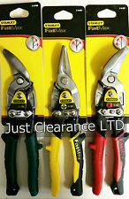 STANLEY FATMAX AVIATION TIN SNIPS CUTTERS SHEARS SET OF 3