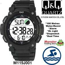AUSSIE SELLER GENTS DIGITAL WATCH CITIZEN MADE M119J001 100M RP$99.95 WARRANTY