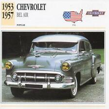 1953-1957 CHEVROLET BEL AIR Classic Car Photograph / Information Maxi Card