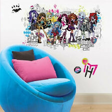 MONSTER HIGH GROUP of Ghouls wall sticker MURAL 13 decal Abbey Draculaura & more